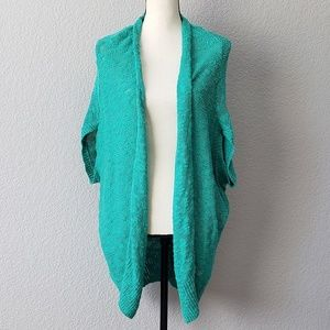 Silence + Noise oversized open front knit cardigan